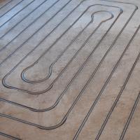 Vloerverwarming gefreesd 100m² in 10 groepen